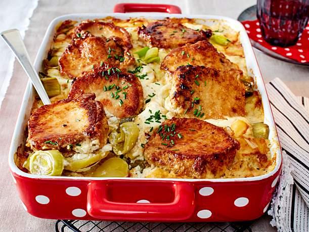 Farmers Kartoffel Schnitzel Auflauf - Schnelle Küche